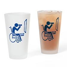 Rear Window Ethics - Blue Drinking Glass
