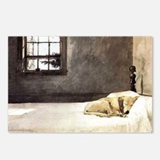 yellow lab laptop skin co Postcards (Package of 8)