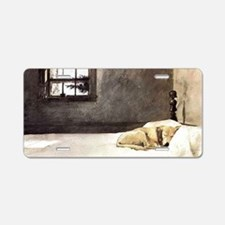 yellow lab laptop skin copy Aluminum License Plate