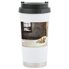 yellow lab laptop skin copy Travel Mug