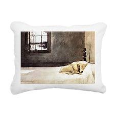 yellow lab laptop skin c Rectangular Canvas Pillow