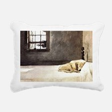 yellow lab laptop skin c Rectangular Canvas Pillow