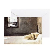 yellow lab laptop skin copy Greeting Card