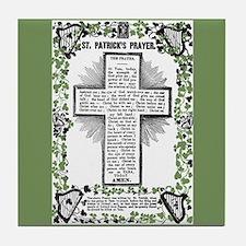 VINTAGE ST. PATRICK'S PRAYER Tile Coaster