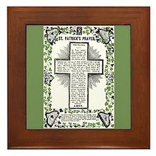 VINTAGE ST. PATRICK'S PRAYER Framed Tile