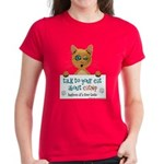 Talk To Your Cat About Catnip Women's Red T-Shirt
