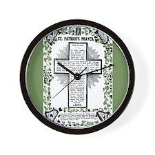 VINTAGE ST. PATRICK'S PRAYER Wall Clock