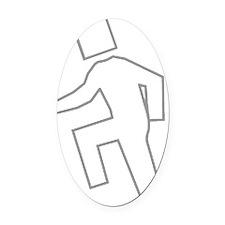 shufflin_gw Oval Car Magnet