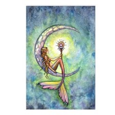 mermaid moon 9 x 12 cp Postcards (Package of 8)
