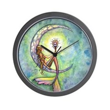 mermaid moon 9 x 12 cp Wall Clock