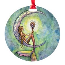 mermaid moon 9 x 12 cp Ornament