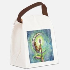 mermaid moon 9 x 12 cp Canvas Lunch Bag