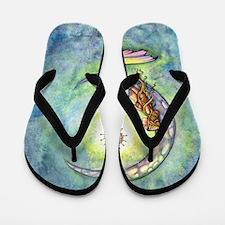 mermaid moon 9 x 12 cp Flip Flops