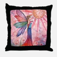 sunshine and rainbow 9 x 12 cp Throw Pillow
