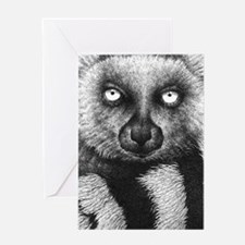 3G Ring-tailed Lemur (iphone case 1) Greeting Card