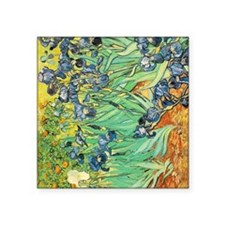 "Irises Square Sticker 3"" x 3"""