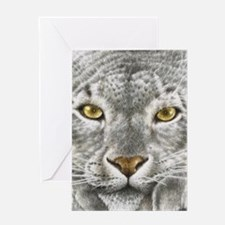 3G Snow Leopard (iphone case 1) Greeting Card
