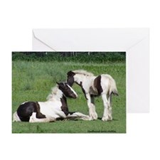 Foals Playing Mouse Pad Greeting Card