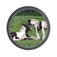 Foals Playing Mouse Pad Wall Clock