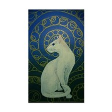 white cat 8X11 Decal