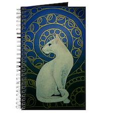 white cat 8X11 Journal