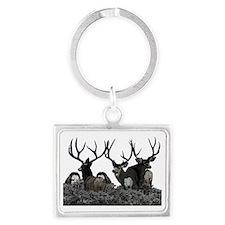 Monster buck deer Landscape Keychain