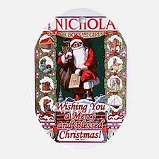 St_Nicholas_BlessedChristmas Oval Ornament