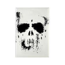 Grunge Skull Rectangle Magnet