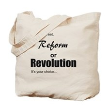 reformorrevoltutionblack Tote Bag