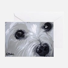 Westie face close Greeting Card