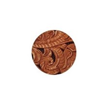 handtooled western Mini Button