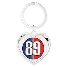 roundlogo89 Heart Keychain