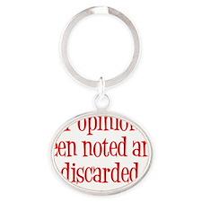 Opinion2 Oval Keychain