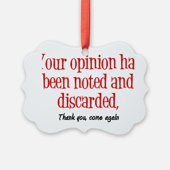 Opinion2 Ornament