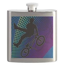 BMX in Fractal Movie Marquee Flask
