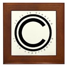 Copyright Framed Tile