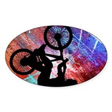 BMX on Rusty Grunge with Edges Decal