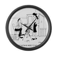 5109_court_cartoon_JAC Large Wall Clock