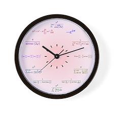Math Clock (pink) Wall Clock