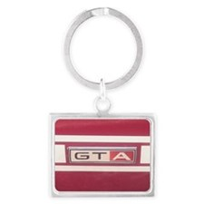 1968 Mustang GT/A Badge Landscape Keychain