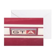 1968 Mustang GT/A Badge Greeting Card