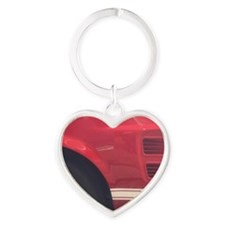 1968 Mustang GT/A Side Picture Heart Keychain