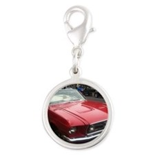 1968 Mustang GT/A Diagonal Vie Silver Round Charm