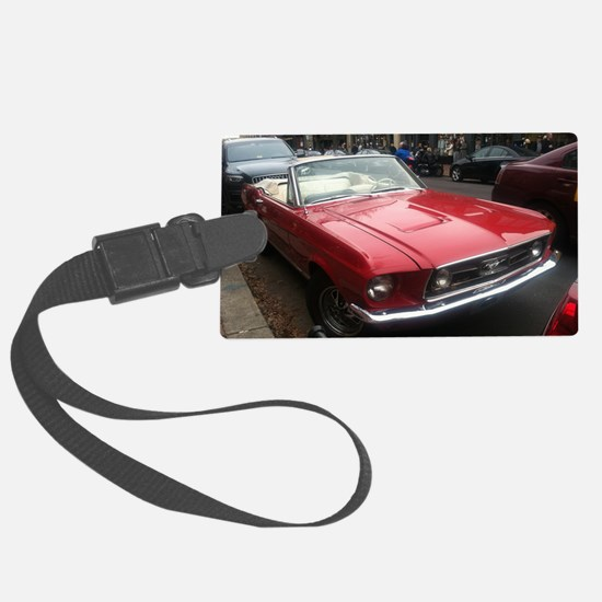 1968 Mustang GT/A Diagonal View Large Luggage Tag