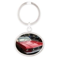 1968 Mustang GT/A Diagonal View Oval Keychain