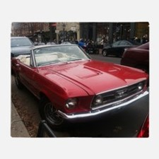 1968 Mustang GT/A Diagonal View Throw Blanket
