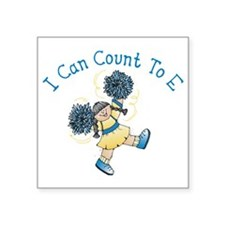 """I can count to E Square Sticker 3"""" x 3"""""""