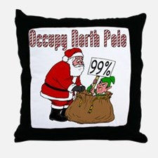 Occupy-North-Pole Throw Pillow