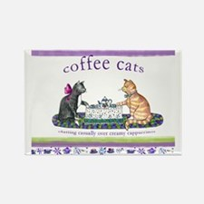 coffee cats Rectangle Magnet