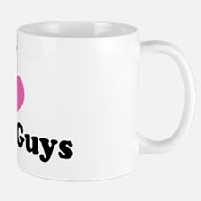 I Love Bald Guys (black letters) Mug